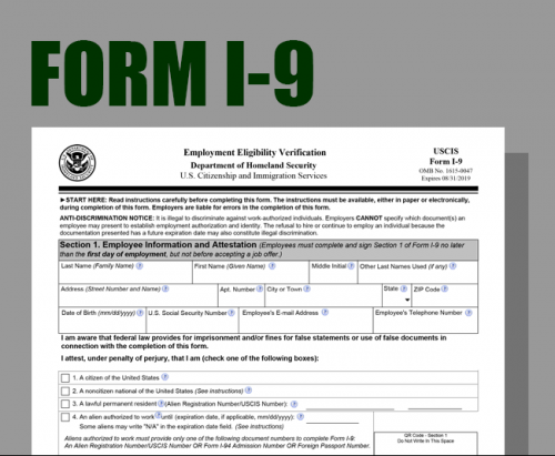 New form I-9 Released by…